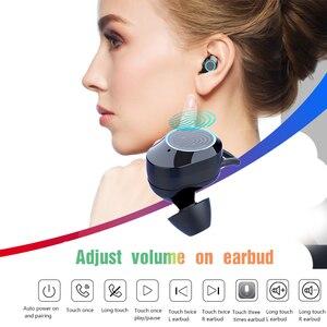 Image 5 - Top Grade 5.0 Bluetooth AAC Code Stereo Earphone Wireless Waterproof Volume Adjust Touch Earbuds Headset Dual LED Display Type c