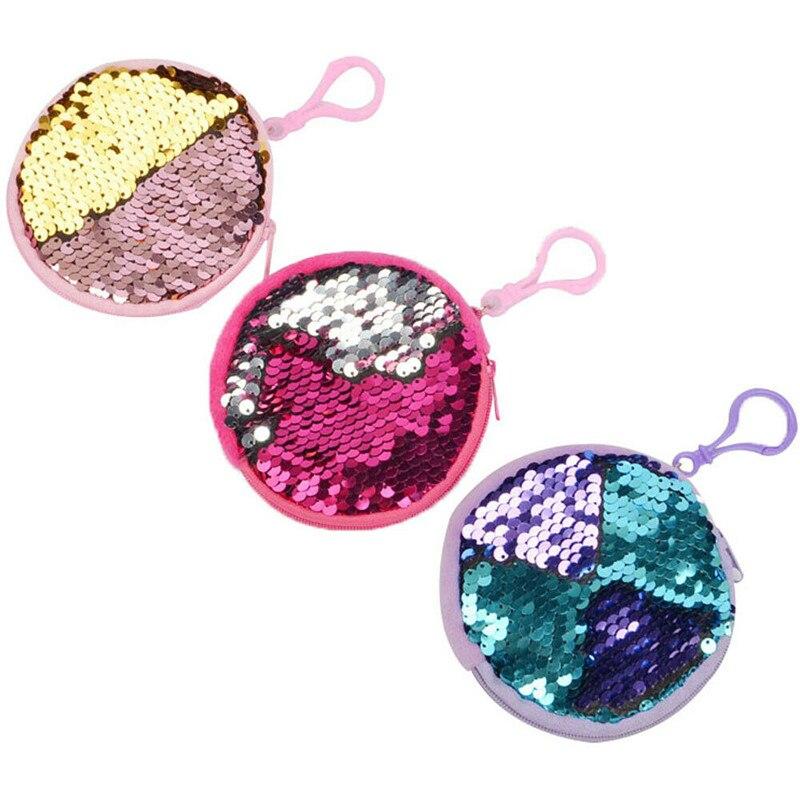 Wallet Diaper-Bags Change Mermaid Mini Cartoon New-Fashion Kid Gift Coins Sequins Children