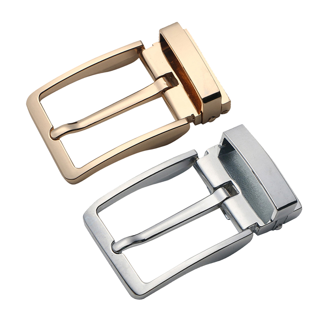 Men Reversible Metal Alloy Belt Buckles Replacement Rectangular Pin Buckles