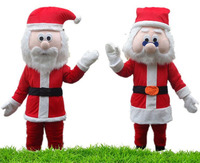 Santa Claus Mascot Halloween Costume Suits Cosplay Party Game Dress Outfits Clothing Advertising Carnival Xmas Easter Festival