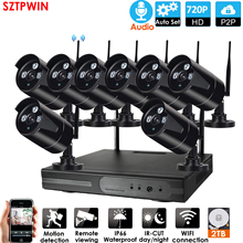 Nvr-Kit Cctv-System Audio-Ip-Camera WIFI Security Outdoor Wireless Night-Vision Audio1080p