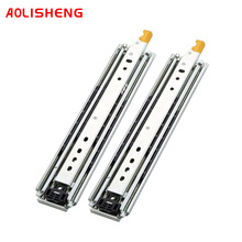 AOLISHENG  220Kg Ball Bearing 3 Fold  Heavy Duty Locking  Drawer Side Rail