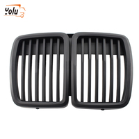 YOLU Front Kidney Matte Black Grill Grilles for BMW E30 318 320 325 1982 1994 Car Front Bumper Grille Styling Accessory
