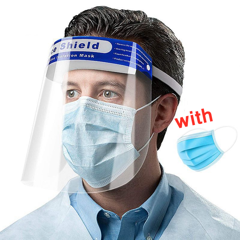 Full Face Mask Disposable/Reusable Protective Masks Anti Dust Breathable Germ Protection Eyes Face Shield Mouth Mask Filters