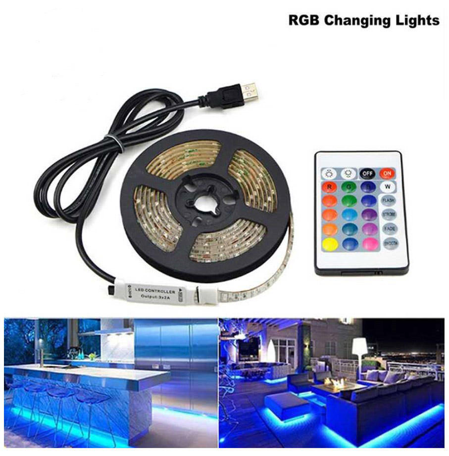 USB DC 5V SMD 3528 LED Strip Light Infrared Remote Controller Waterproof Led Strip Flexible Diode Ribbon Tape
