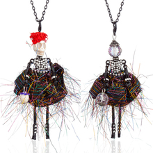 HOCOLE Fashion Doll Necklaces For Women Handmade Alloy Long Chain Crystal Kids Girls Dress Pendant Necklace Jewelry Accessories
