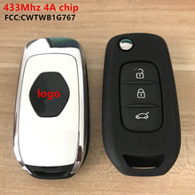 3 pulsanti auto Keyless Smart Remote Key 4A Chip 434Mhz per Renault Megane IV Dacia Duster Kadjar Captur simbolo chiave Flip originale