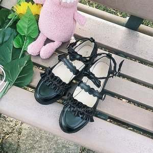 Image 3 - Girls Lolita Kawaii Doll Ruffle School Single Leather Shoes Women Japanese Style JK Academy Princess Anime Party Cosplay Coatume