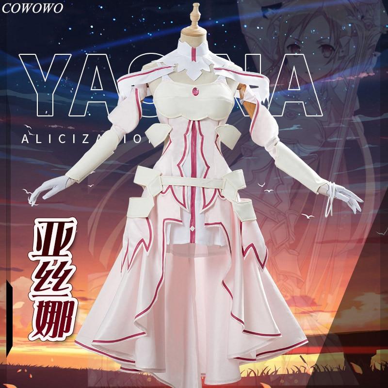 Anime!Sword Art Online Yuuki Asuna Alicization Next Goddess Dress Animatrix Uniform Cosplay Costume Halloween Suit Free Shipping