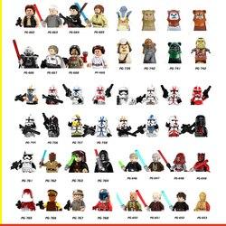 8 pçs/set star spacewars bloco de construção clone troopers destruidor jesse comandante cody ahsokas figuras de ação guerras brinquedo para crianças