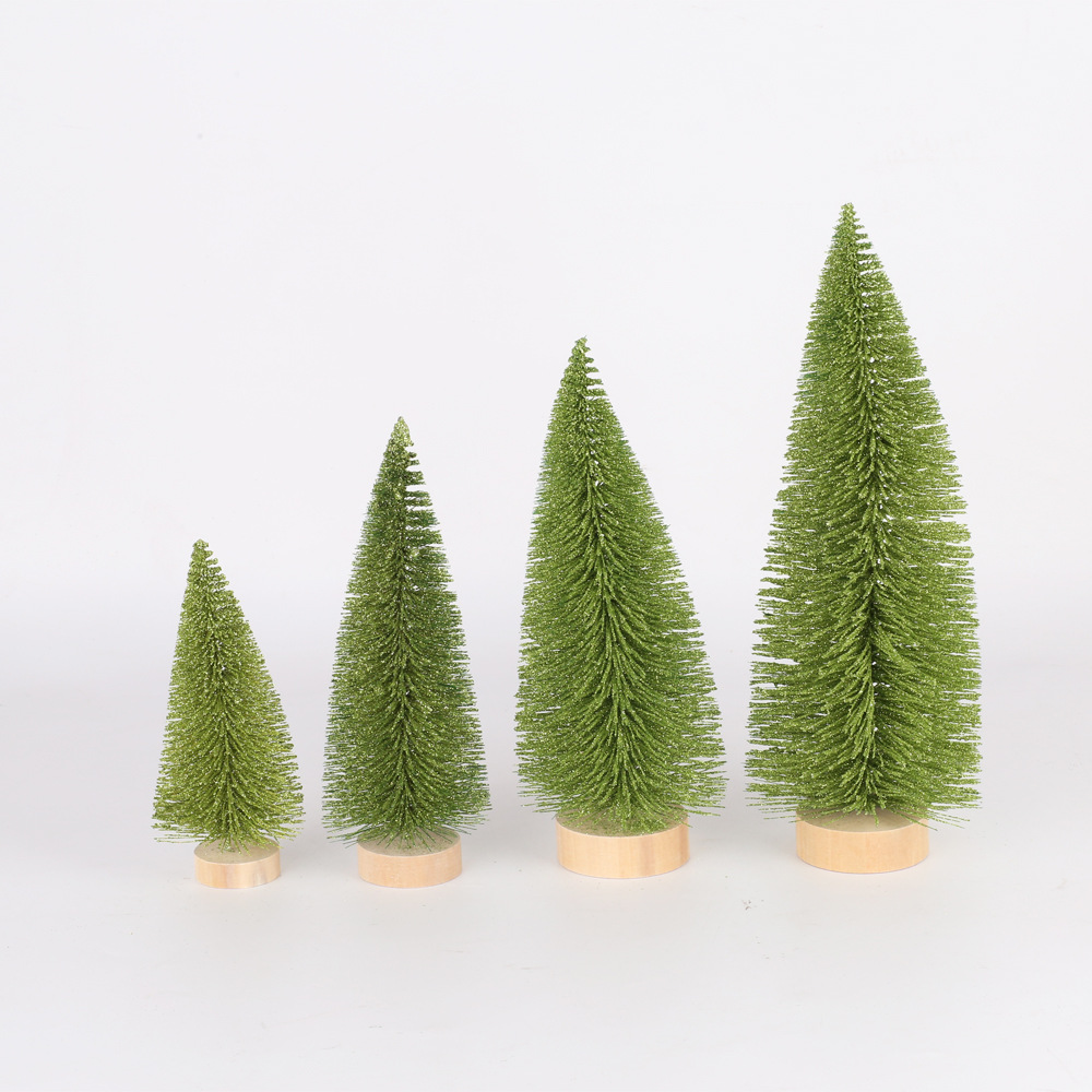 Manufacturers Direct Selling New Style Christmas Decorations Christmas Desktop Furnishings Light Green Pine Needle Dusting Powde