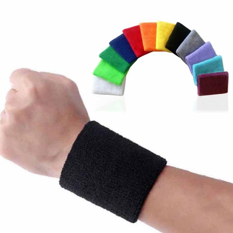Sweatband Sports Wristbands Hand Band Sweat Wrist Support Brace Wraps  Guards For Men Women Gym Volleyball Basketball Teennis|Wrist Support| -  AliExpress