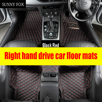 SUNNY FOX Right hand drive/RHD car car floor mats for Lexus IS200T IS300 IS300H IS350 ES200 NX300H RX450H GS car styling carpet