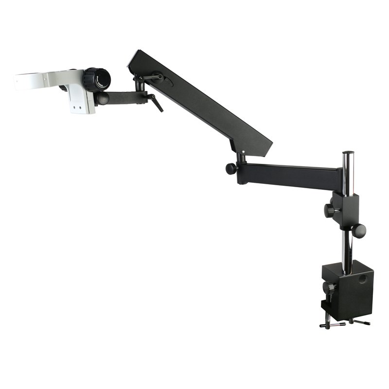 Adjustable Direction Articulating Arm Pillar Clamp Holder Bracket 76mm Microscope Stand For Stereo Trinocular Microscope