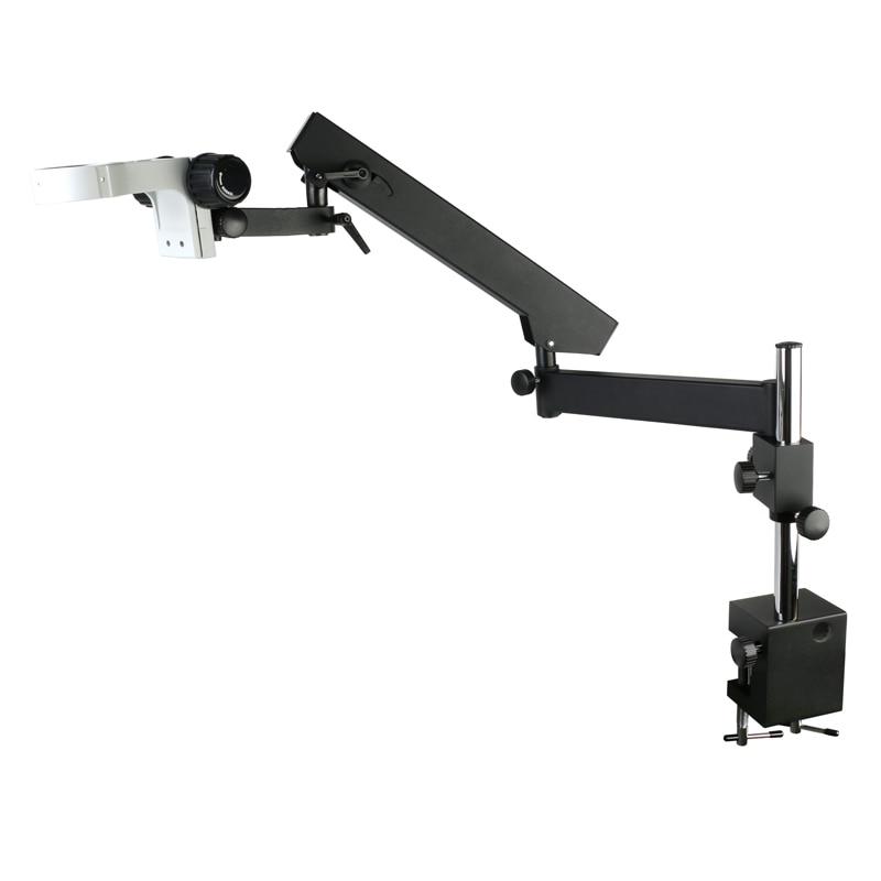 Direzione regolabile Braccio Snodato Pilastro Morsetto Del Supporto Staffa 76 millimetri Stativo del microscopio Per Stereo Microscopio Trinoculare