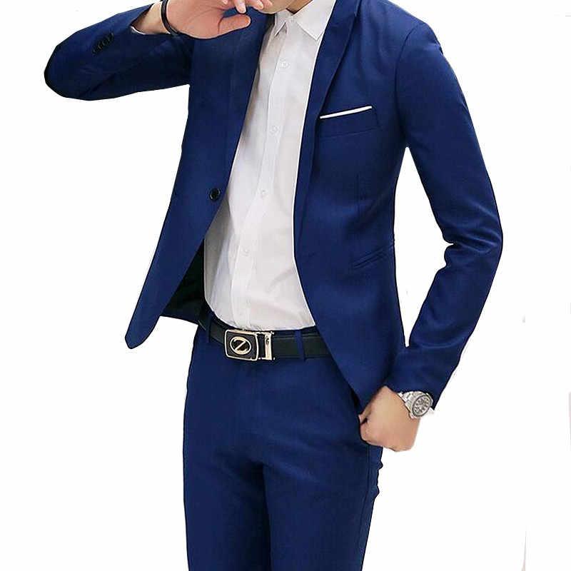 Traje De Novio De Boda Para Hombre Conjunto De Dos Piezas Abrigo De Negocios De Moda Con Pantalones Traje Para Banquete Conjunto Ajustadas Coreanas De Talla Grande Blazer 5xl Trajes Aliexpress