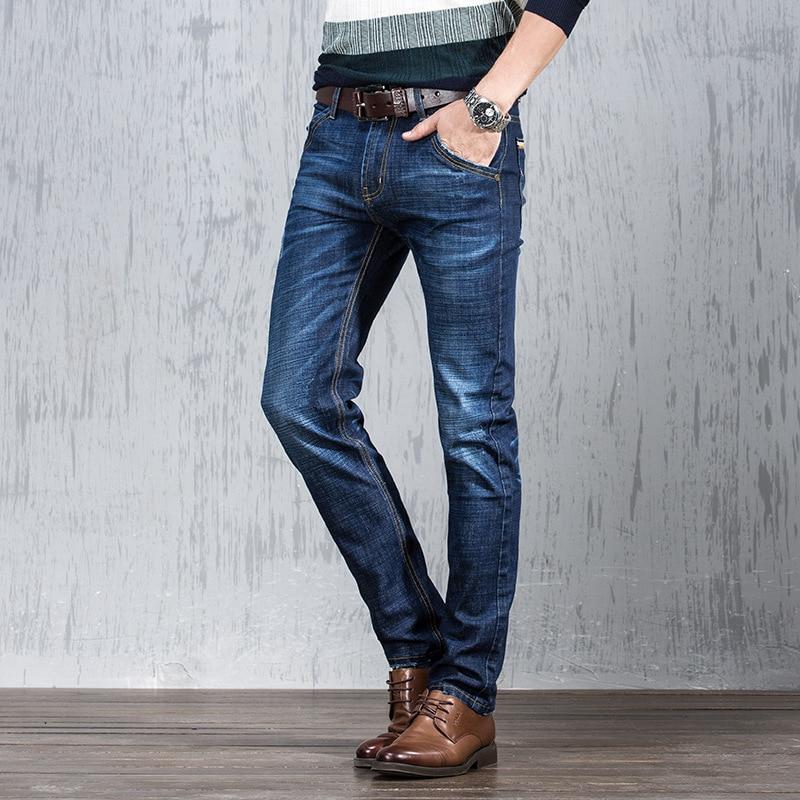 Summer Ultra-Thin Jeans Men's Tencel Elasticity Loose Straight Medium Waist Casual Large Size MEN'S Jeans