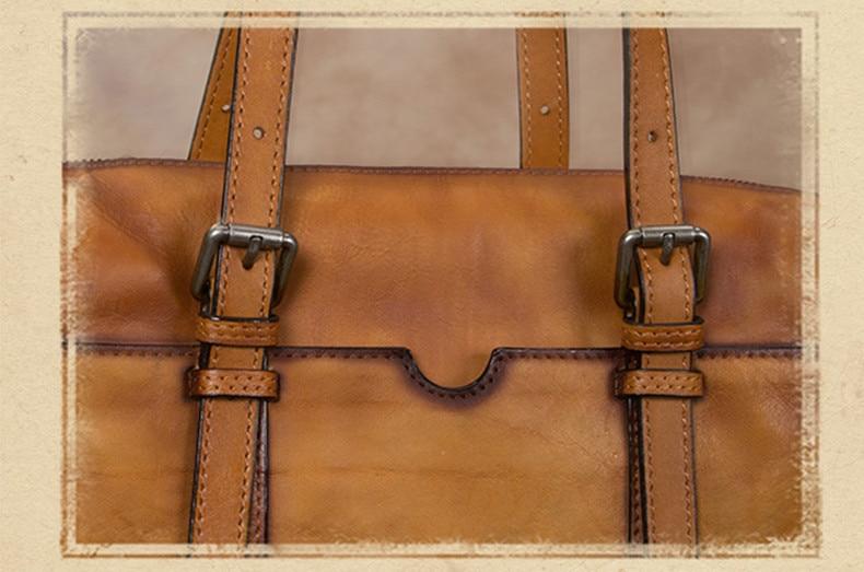 Γυναικείος δερμάτινος χαρτοφύλακας τσάντα ώμου msow
