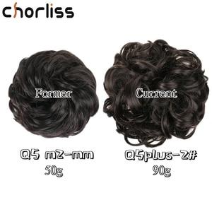 Chorliss Q5 Plus шиньон кудрявые резные шиньон эластичные грязные волнистые булочки синтетические гибкие булочки для удлинения хвоста для женщин