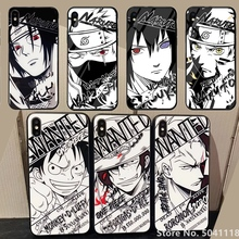 OnePiece Cartoon Luffy Naruto Soft Silicone Glass Phone Cover Case ForiPhone X XR Xs 11 Pro Max 6 6S 7 8 Plus Coque Etui