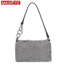 2021NEW Brand Designer Diamond bag Fashion Flashing Women Hobos Bag Female Armpit Handbags And Purses Party clutch