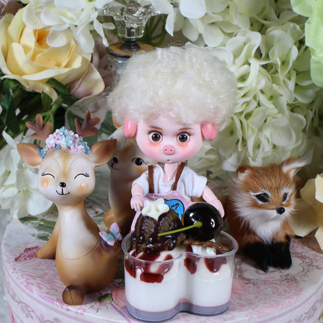 1/12 BJD 26 joint body 15cm mini doll Lucky pig ob11 doll with makeup shoe set gift toy