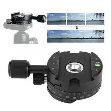 Pince de panoramique QJ 01 pince de dégagement rapide en alliage daluminium tête de trépied panoramique rotative à 360 degrés avec niveau déchelle pour pince