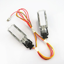 Auto Waarschuwingslampje Kofferbak Interieur Welkom Lamp + Draad Plug 8KD947415C Voor Vw Sharan Phaeton A5 A6 S6 A8 Q5 q7 R8 Yeti S4 S5