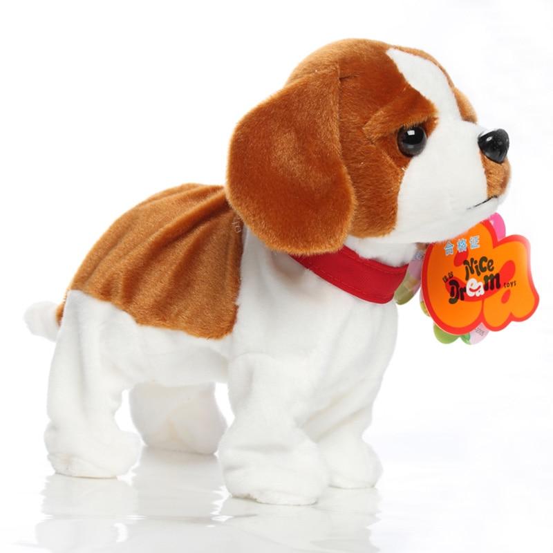 Купить с кэшбэком Electric Toy Dog Intelligent Voice Control  Will Call The Dancing Dog Plush Puppy Mechanical Dog Doll Barking  Toy  90s