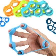 1pc dedo aperto da mão 3kg-5kg silicone força treinador anel pinça expansor dedo treino fitness força apertos de mão