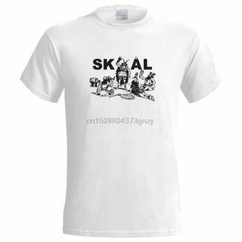 Skol Vikings męska koszulka Viking Skal norwegia dania szwecja Norse Cheers koszulka z piwem nowa zabawna bawełna