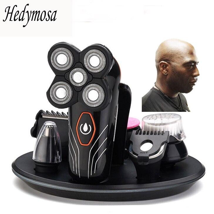 4D rasoir électrique USB chargement hommes rasage rasoir étanche libre-service coupe de cheveux rasage barbe multifonctionnel
