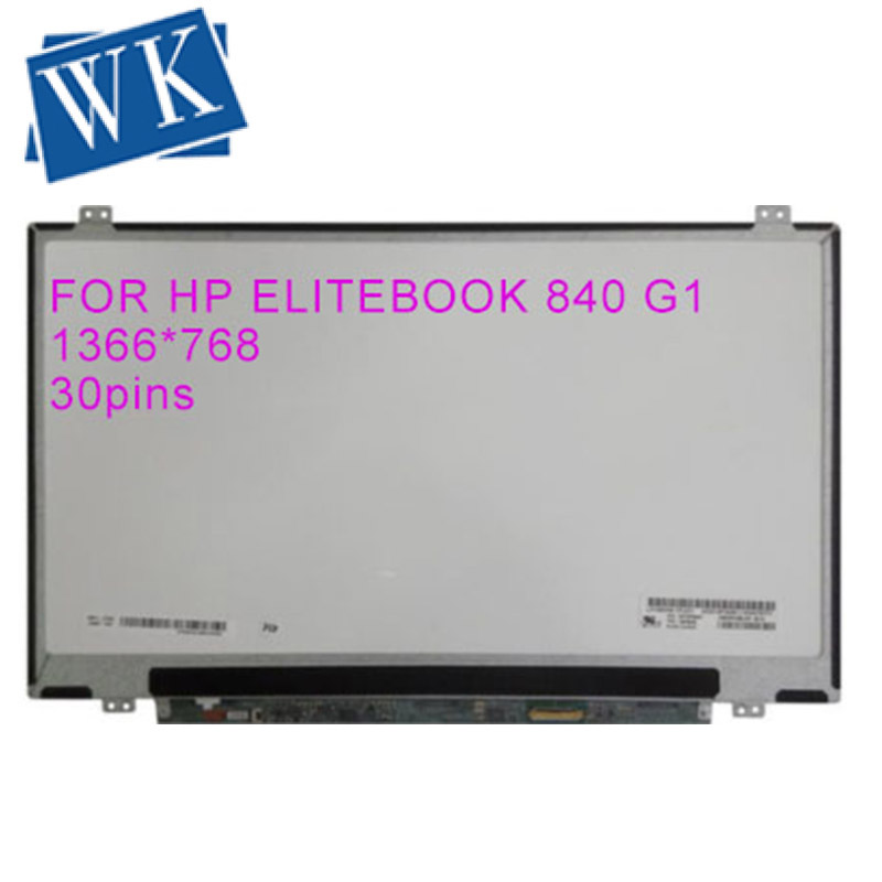 Free Shipping New 14'' LCD LED SCREEN FOR HP ELITEBOOK 840 G1 Replacement For Laptop MATRIX HD