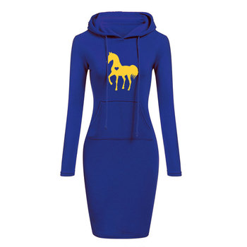 Women's Long Sleeve Dress With Equestrian Logo  3