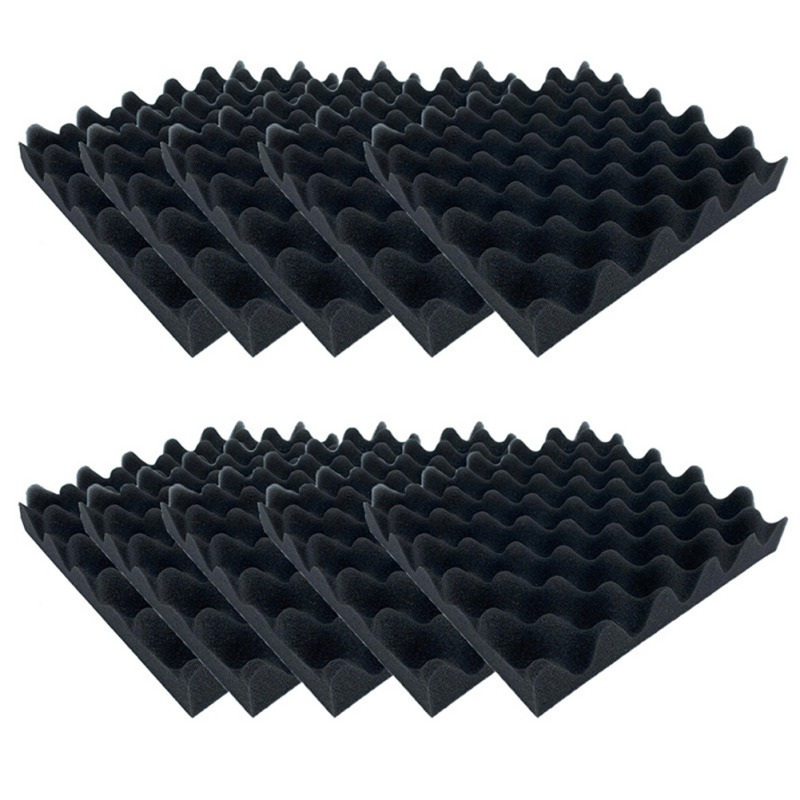 10pcs Soundproofing Foam Egg Crate Studio Acoustic Foam Soundproofing Treatment Egg Profile Tile Foam New