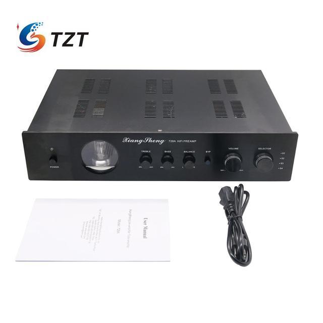 XiangSheng 728A فراغ أنبوب مكبر للصوت HIFI EXQUIS 12AT7 12AU7 6Z4 مع لهجة