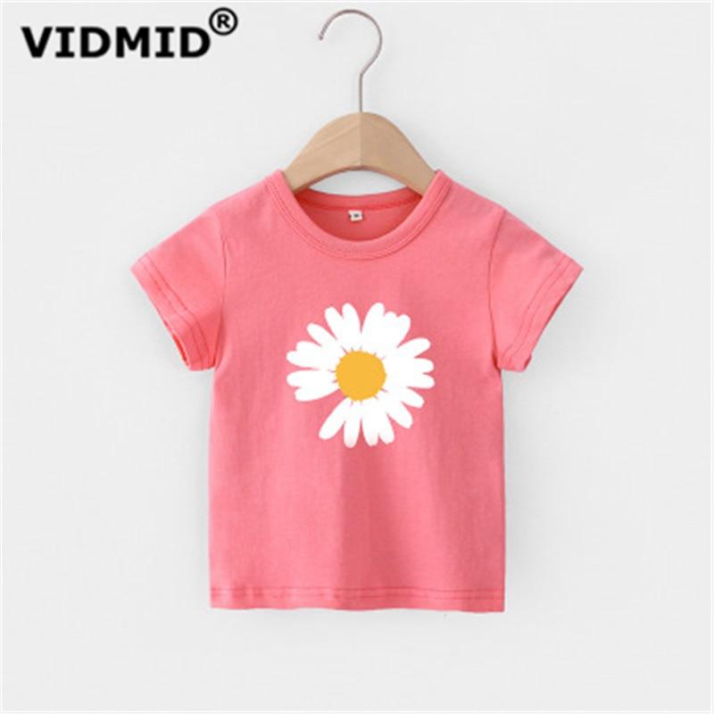 VIDMID Baby girls t-shirt Summer Clothes Casual Cartoon cotton tops tees kids Girls Clothing Short Sleeve t-shirt 4018 06 1