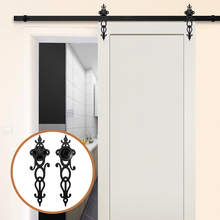 Gifsin Sliding Barn Wood Door Kits of Closet Hardware Rollers Kit System Better Than Only Rollers