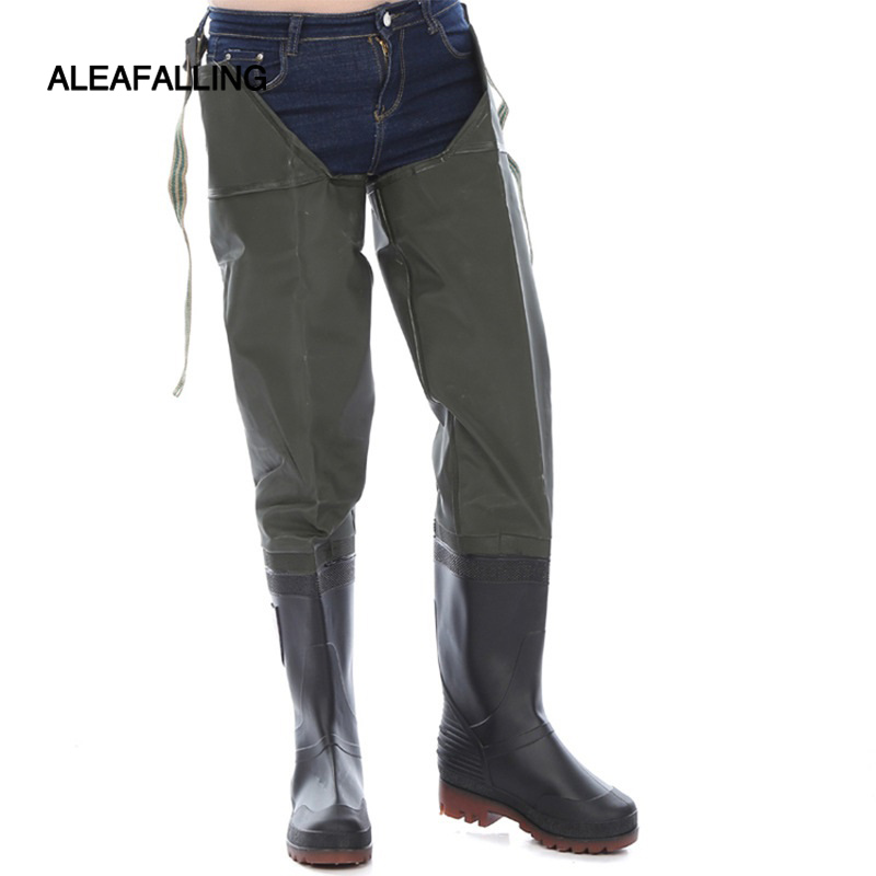 Waterproof Pants Thickened Boots Blood-proof Fishing Knee-high Water Shoes Rice Transplanting Water Pants Under The Paddy Field