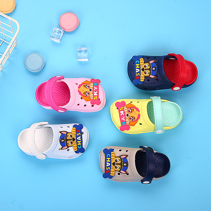 2020 New Paw Patrol Children's Cartoon Chase Skye Figure Characters Shoes Boys And Girls Summer Baby Slippers Gift Fit 2-6y