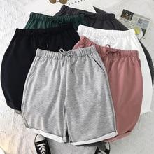 Шорты мужские и женские пляжные, уличная одежда, повседневные модные однотонные Бермуды, большие размеры 5XL, лето 2021