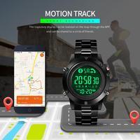 SKMEI Smart Watches Bluetooth creativo moda sport orologio da polso uomo cinturino in acciaio Calorie pedometro telecamera remota SmartWatch nuovo