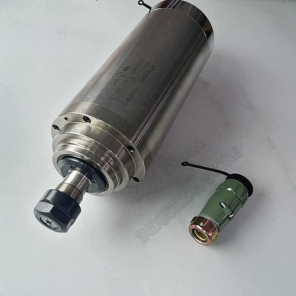 Changsheng 4.5KW 100mm ER20 1-13mm 220 V/380 AC 24000 vòng/phút Nước Làm Mát Động Cơ Trục Chính 3PH cho Khắc CNC Router Khắc Gỗ
