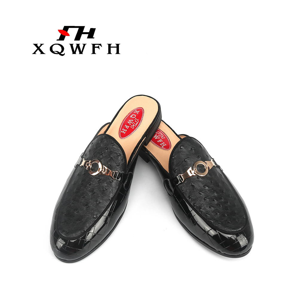2019 Summer Men Slippers High Quality Beach Sandals Non-slide Male Slippers Classic Men's Mules Fashion Party Men Shoes