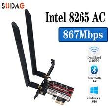 2 Băng Tần 2.4G/5Ghz Wifi Bluetooth Wlan Cho Intel 8265NGW Không Dây AC 8265 NGFF 802.11ac 867mbps 2X2 MU MIMO WIFI BT 4.2 Thẻ