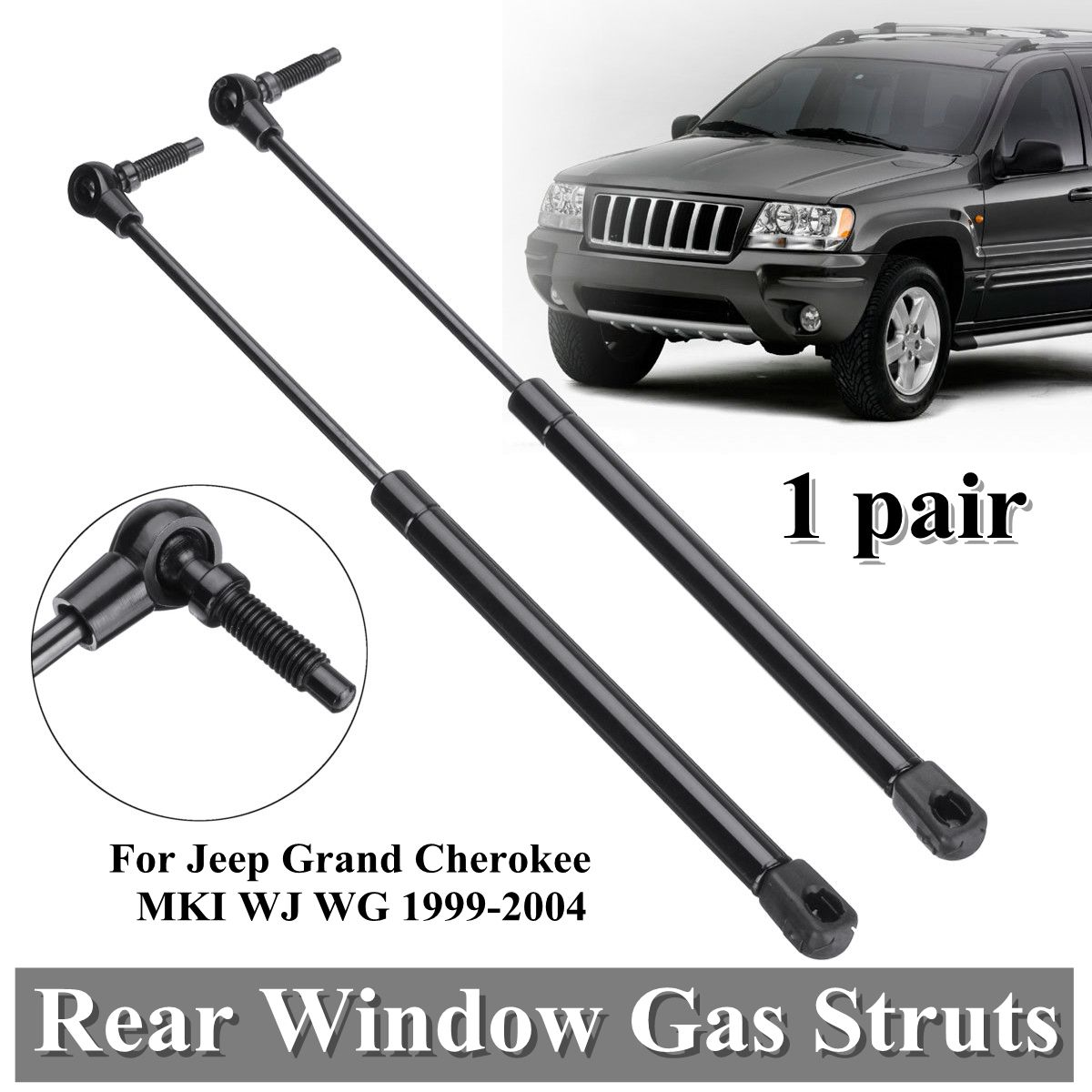 2 Hood Lift Supports for 1999-2004 Jeep Grand Cherokee Qty
