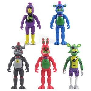 Image 5 - Beş Nights freddynin aksiyon figürü oyuncak FNAF oyuncak ayı Freddy Fazbear ayı Anime figürleri Freddy oyuncaklar için çocuk günü hediyesi