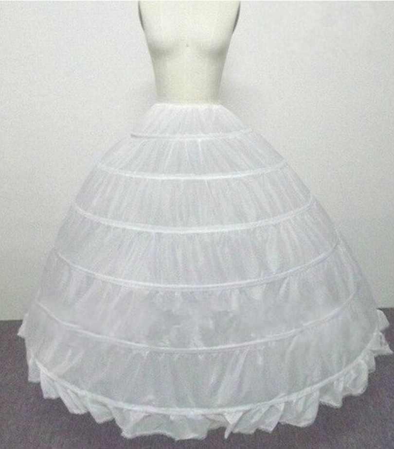 אביזרי חתונה תחתונית Vestido לונגו שמלת קרינולינה תחתוניות 6 חישוקי חצאית תחתוניות במלאי