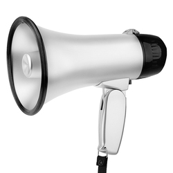 Portable Megaphone Speaker Bullhorn with 20 Watt Power and Foldable Handle for Cheerleading Guide and Police