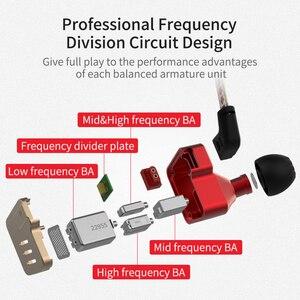 Image 5 - سماعات رأس KZ BA10 بقنوات صوتية متوازنة 5BA عالية النقاء والباس سماعات داخل الأذن سماعات رياضية KZ AS10 ZS10 ZS6
